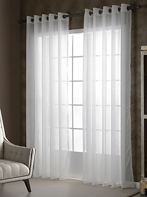 zwei Panele Window Treatment Rustikal / Modern , Solide Wohnzimmer Polyester Stoff Gardinen Shades Haus Dekoration For Fenster