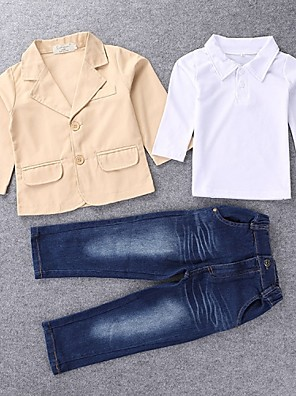 סט של בגדים אחיד תערובת כותנה כל העונות הילד של