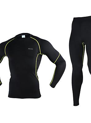 Arsuxeo® Cyklo základní vrstva Pánské Dlouhé rukávy Jezdit na koleProdyšné / Zahřívací / Rychleschnoucí / Anatomický design /