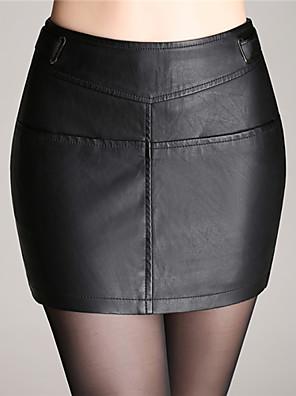 נשים - חצאית ( PU , לא כולל חגורה )