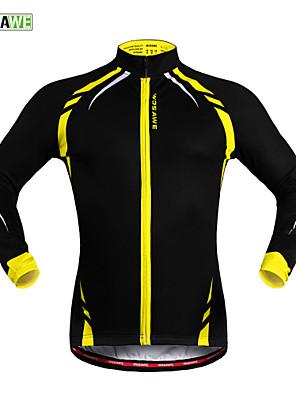 Wosawe® ג'קט לרכיבה יוניסקס שרוול ארוך אופניים שמור על חום הגוף / עמיד / בטנת פליז / רצועות מחזירי אור / נגד החלקה ג'קט / ג'רזי / צמרות