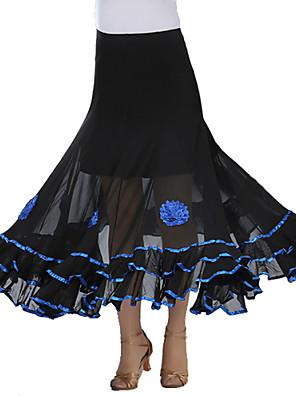 Standardní tance tutu a sukně Dámské Výkon Krep Nařasený Jeden díl Sukně Skrit length: 90cm