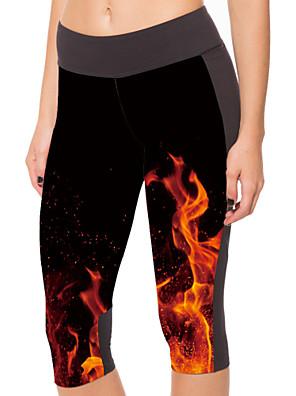Běh 3/4 Tights / Kalhoty / Legíny / Spodní část oděvu Dámské Komprese / Streç Polyester Jóga / Fitness Sportovní Vysoká pružnost Přiléhavý