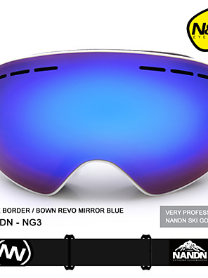 NANDN Big Spherical Men Women Snowboard Sports Ski Goggles Double Layer Lens Anti-fog Professional Ski Glasses NG3