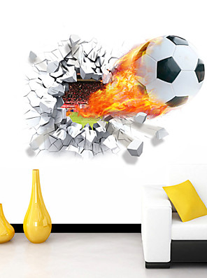 Cartoon / Romantiek / Sport / 3D Wall Stickers 3D Muurstickers Decoratieve Muurstickers,PVC MateriaalVerstelbaar / Wasbaar /