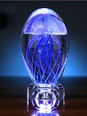 Valentýn medúzy záře koule krystal malé noční světlo music box kreativní dárek LED světlo lampy