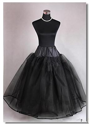 תחתונית  A- קו תחתוניות / סליפ שמלת נשף / שובל קפלה אורך עד לרצפה 3 רשתות בד טול שחור