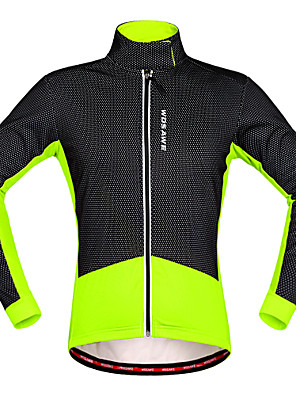 Wosawe® Cyklo bunda Unisex Dlouhé rukávy Jezdit na kole Zahřívací / Tepelná izolace / Voděodolný zip / Přední zipDres / Fleecové bundy /