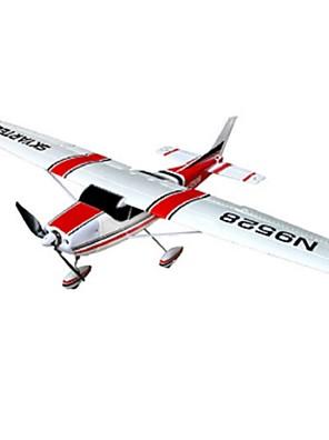 KIT Skyartec Cessna 182 Borstelloos Elektrisch RC vliegtuig 5-kanaals EPO Red/Blue Niet geassembleerde kit