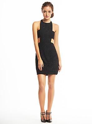 ts couture® cocktail party dress schede / column halster korte / mini lovertjes / polyester met pailletten