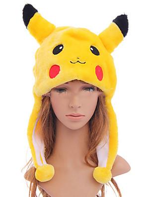 Hat/Kasket Inspireret af Pocket Monster PIKA PIKA Anime / Videospil Cosplay Tilbehør Hat Sort / Rød / Gul Polyester Mand / Kvindelig