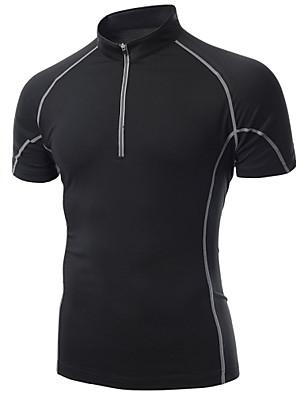 Esportivo Camisa para Ciclismo Homens Manga Curta Moto Respirável / Secagem Rápida / Compressão / Materiais Leves / SuaveCamiseta /