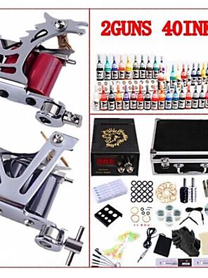 basekey profi tetováló szett kw02b 2 gép tápegységgel fogók 40x5ml tinta tűk