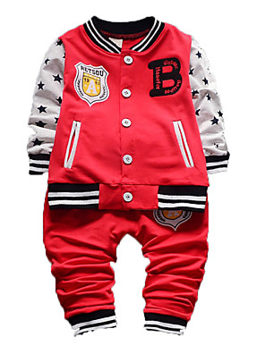 Boy's Cotton Clothing Set,Spring / Fall Patchwork
