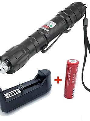 Flashlight Shaped-Green Laser Pointer-Aluminum Alloy