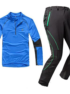 KOSHBIKE / KORAMAN® Cyklodres a čapáky Pánské Dlouhé rukávy Jezdit na koleProdyšné / Rychleschnoucí / Odolný vůči UV záření / Přední zip