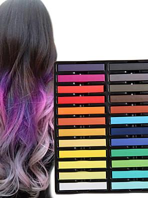 24 kleuren tijdelijke krijt krijtjes voor haar niet-giftige haarkleurmiddelen pastels plakken diy styling tools