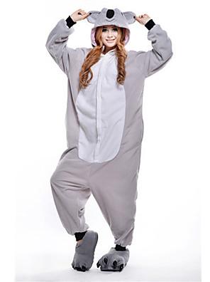 Kigurumi Pyjamas New Cosplay® / Koala Trikot/Heldragtskostumer Festival/Højtider Animal Nattøj Halloween Grå Patchwork Polar Fleece