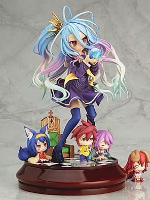 inget spel inget liv shiro 20cm anime actionfigurer modell leksaker docka leksak (utan 4 små figurer)