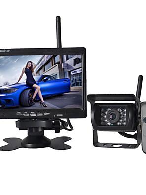 7-calowy Monitor 170 ° bezprzewodowego HD Widok kamery z tyłu autobusu samochód + autobus wysokiej rozdzielczości szeroki kąt wodoodporny