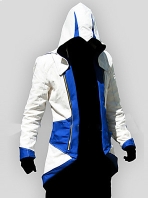 Inspirado por Assassin's Creed Conner Anime Fantasias de Cosplay Hoodies cosplay Patchwork / Estampado Vermelho / Azul Manga Comprida Top