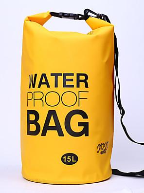 15 L עמיד למים יבשים תיק מחנאות וטיולים / רכיבה על אופניים טבע עמיד למים / קומפקטי צהוב / ירוק / אדום / אפור / שחור / כחול פי וי סי other