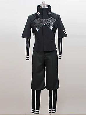 Cosplay Puvut - Ken Kaneki - Tokio Ghoul - Päälystakki / Toppi / Housut -