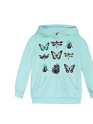 Girl's Hoodie & Sweatshirt,Cotton Winter Blue