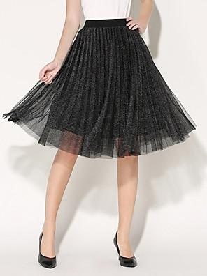 Polyester-Inelastisch-Vintage / Casual-Tot de knie-Vrouwen-Rokken