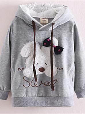 Girl's Pink / Gray Hoodie & Sweatshirt,Cartoon Cotton Winter