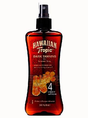 Hawaiian Tropic hawaii brons snel zwarte schoonheid zwarte diepe brons zonnebrandolie SPF4 1pc 240ml