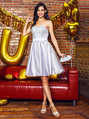 TS Couture® Cocktail Party / Company Party Dress A-line Sweetheart Knee-length Tulle with Appliques