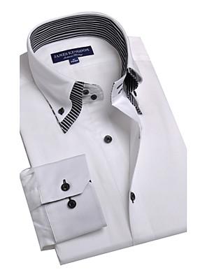 JamesEarl Herre Krave Langt Ærme Shirt & bluse Ivory - BA102050525