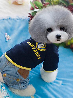 Cães Calças Azul / Azul Claro Roupas para Cães Verão / Primavera/Outono Jeans Da Moda / Vaqueiro