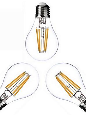 3 stk. KWB E26/E27 4W 4 COB 400 lm Varm hvid A60(A19) edison Vintage LED-glødetrådspærer AC 220-240 / AC 110-130 V