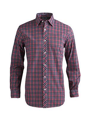 JamesEarl Heren Overhemdkraag Lange mouw Shirt & Blouse Zilver - MB1XC000501