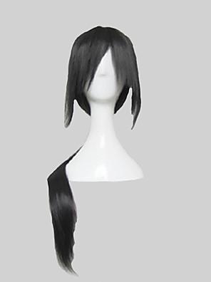 פאות קוספליי Naruto Itachi Uchiha שחור ארוך אנימה פאות קוספליי 80 CM סיבים עמידים לחום זכר