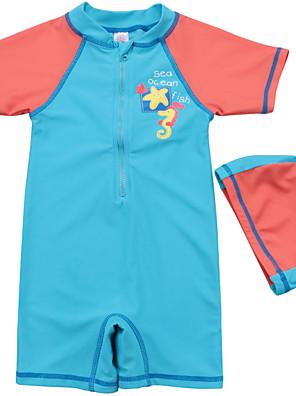 בגדי ים דפוס פוליאסטר / ספנדקס קיץ הילד של