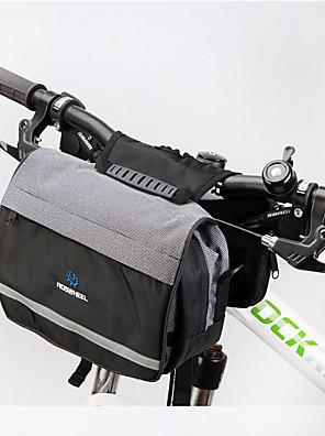 ROSWHEEL® Bolsa de Bicicleta 5LBolsa para Guidão de Bicicleta / Bolsa de OmbroZíper á Prova-de-Água / Á Prova de Humidade / Camurça de
