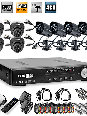 8CH H.264 CCTV DVR szett (8db. CMOS Nightvision kamera) verhetetlen áron