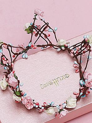 Donne / Bambina Tessuto Copricapo-Matrimonio / Occasioni speciali / Casual / All'aperto Tiare / Ghirlande di fiori 1 pezzo