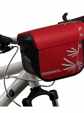 ROSWHEEL® Cyklistická taška 3LBrašna na řídítka / Taška přes rameno Voděodolný zip / Odolný proti vlhkosti / Odolné vůči šokům / Nositelný