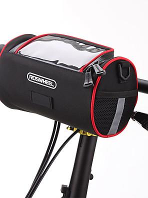 ROSWHEEL® Cyklistická taška 2.8LBrašna na řídítka / Taška přes ramenoVoděodolný zip / Odolný proti vlhkosti / Odolné vůči šokům /