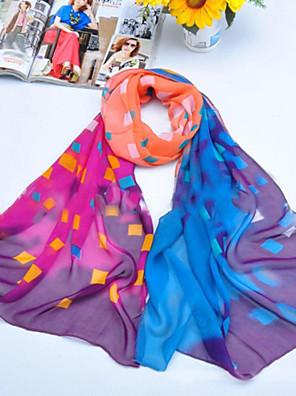숄 쉬폰 / 폴리 에스테르 여러 가지 빛깔의 격자 스카프 (더 많은 색상)