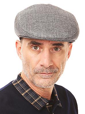 כובע כומתה (בארט) גברים וינטאג' / יום יומי,פשתן כל העונות