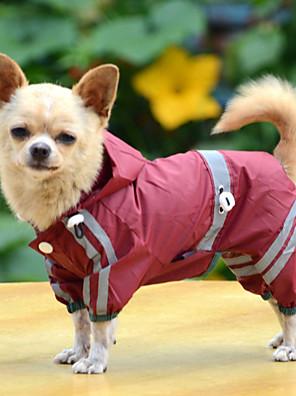 כלבים מעיל גשם Red / צהוב / ירוק בגדים לכלבים קיץ / קיץ/אביב אחיד עמיד למים