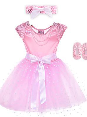 Fantasias Vestidos Crianças Actuação Elastano / Poliéster Arco(s) 2 Peças Sem Mangas Vestidos / Tiaras 60cm