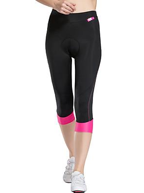 TASDAN® Calças 3/4 Para Ciclismo Mulheres Respirável / Secagem Rápida / Tapete 3D / Detalhes Refletores / Redutor de Suor Moto3/4 calças