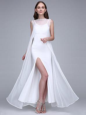 Lanting Bride® Po kotníky Šifón / Úplet Šaty pro družičky - Pouzdrové Bateau s