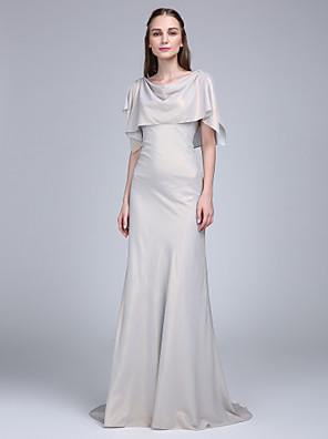 Lanting Bride® Dlouhá vlečka Šifón Šaty pro družičky - A-Linie Kutna s